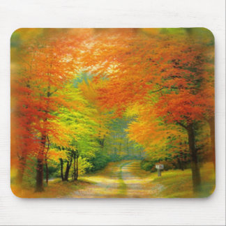 Paseo Mousepad del otoño