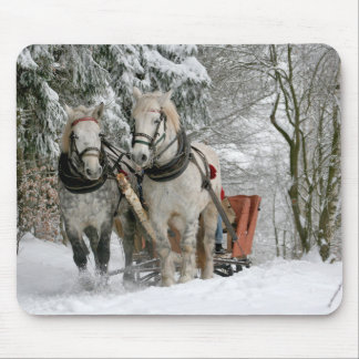 Paseo Mousepad del trineo del invierno