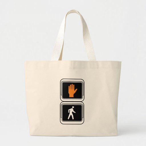 Paseo - no camina la placa de calle bolsa tela grande