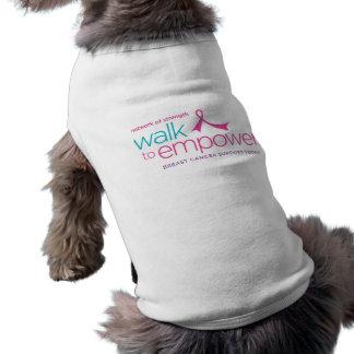 Paseo para autorizar la camiseta del mascota playera sin mangas para perro
