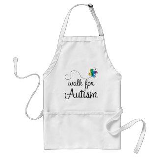 Paseo para el autismo delantal