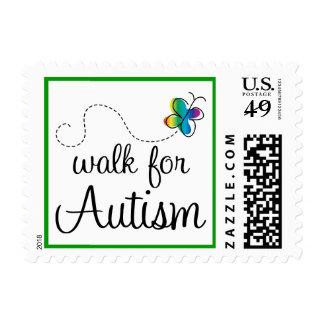 Paseo para los sellos de la conciencia del autismo