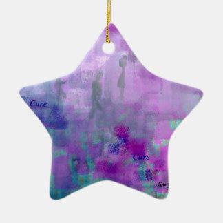 Paseo para una curación adorno navideño de cerámica en forma de estrella