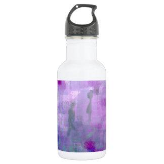 Paseo para una curación botella de agua de acero inoxidable