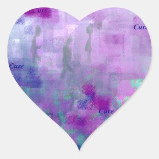 Paseo para una curación pegatina en forma de corazón