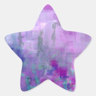 Paseo para una curación pegatina en forma de estrella