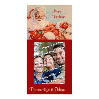 Paseo Photocard del trineo de Santas Tarjetas Fotograficas Personalizadas