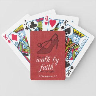 Paseo por cita del verso de la biblia del 5:7 de l baraja de cartas