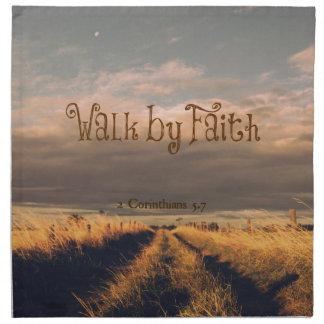 Paseo por escritura del verso de la biblia de la servilleta