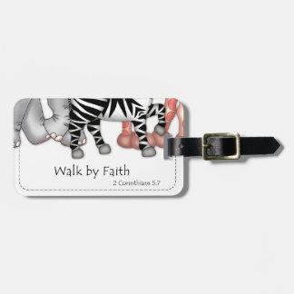 """""""Paseo por etiqueta del equipaje de la fe"""" Etiqueta Para Equipaje"""