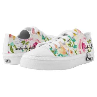 Paseo por los zapatos florales del top del punto zapatillas