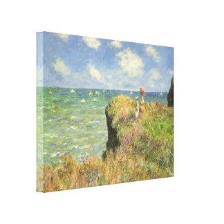 Paseo Pourville, Monet, impresionismo del Lona Envuelta Para Galerías