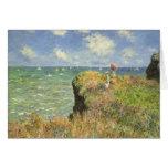 Paseo Pourville, Monet, impresionismo del Tarjeta De Felicitación