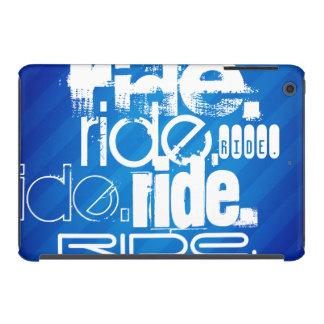 Paseo; Rayas azules reales Fundas De iPad Mini Retina