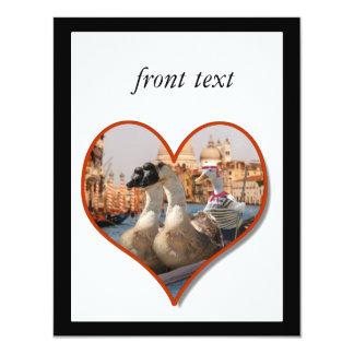 Paseo romántico de la góndola (añada su texto) invitación 10,8 x 13,9 cm