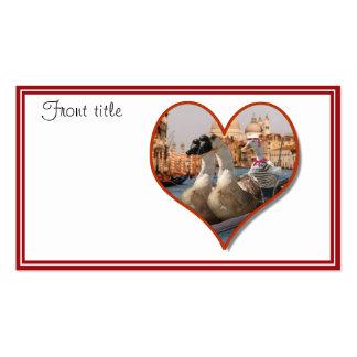 Paseo romántico de la góndola (añada su texto) tarjetas de visita