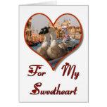 Paseo romántico de la góndola tarjeta de felicitación