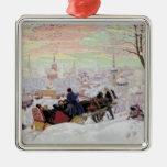 Paseo ruso del trineo ornaments para arbol de navidad