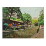 Paseo San Antonio, pintura del río de TX Tarjetas Postales
