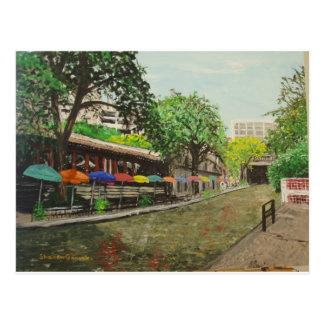 Paseo San Antonio, pintura del río de TX Postal