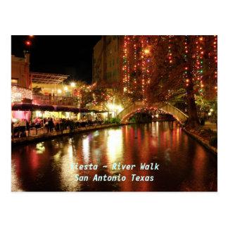 Paseo San Antonio Tejas del río del ~ de la fiesta Tarjeta Postal