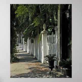 Paseo sombrío de Charleston Poster