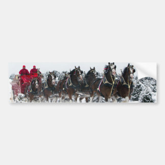 Paseo traído por caballo del trineo pegatina para auto