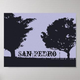 Paseo Trees San Pedro Poster