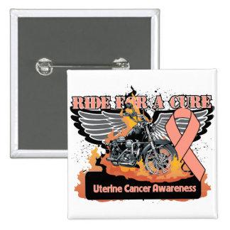 Paseo uterino del cáncer para una curación pin cuadrado