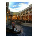 Paseo veneciano de la góndola del canal, Las Vegas Tarjetas Postales