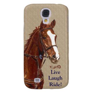 ¡Paseo vivo de la risa! Caballo Funda Para Galaxy S4