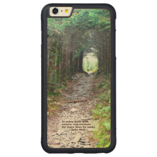 Paseo w/nature - Muir de la pista de senderismo Funda De Arce Bumper Carved® Para iPhone 6 Plus
