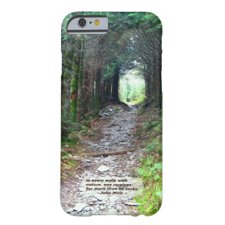 Paseo w/nature - Muir de la pista de senderismo Funda Para iPhone 6 Barely There