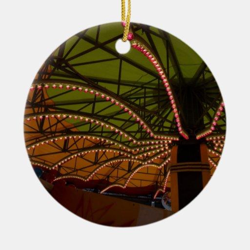 paseos adorno navideño redondo de cerámica