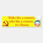 Paseos como un commie, negociaciones como un commi etiqueta de parachoque