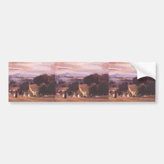 Paseos de Ludlow del buey de Philip Wilson Etiqueta De Parachoque