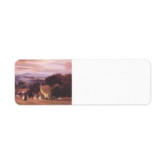 Paseos de Ludlow del buey de Philip Wilson Etiqueta De Remite