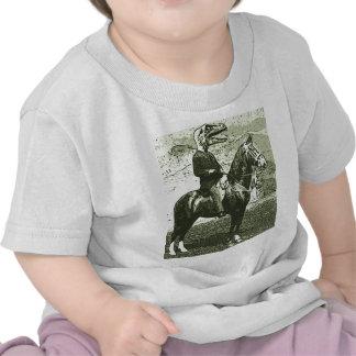 paseos del hombre del dinosaurio camisetas