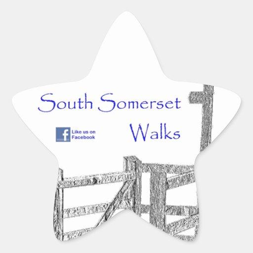 Paseos del sur de Somerset Pegatina En Forma De Estrella