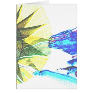 Paseos enfocados amarillos y azules en el extracto tarjetas