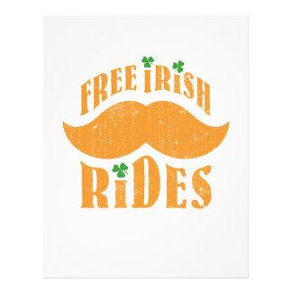 Paseos irlandeses libres del bigote flyer personalizado