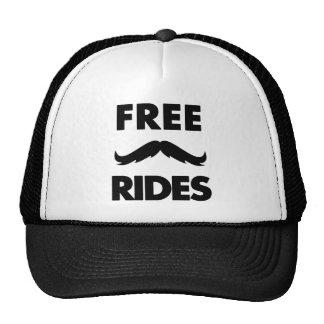 Paseos libres del bigote gorros bordados
