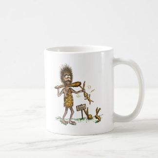 Paseos libres del conejito - hombre de las tazas de café