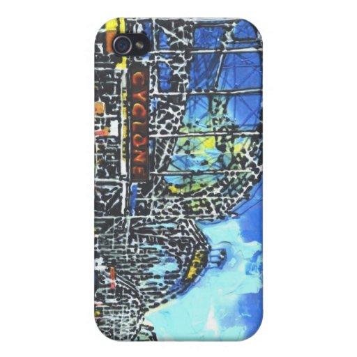 Paseos marítimos de la caja de la mota de América  iPhone 4 Carcasas