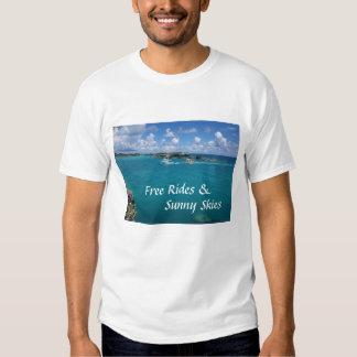 Pases gratises y camiseta blanca de los cielos poleras