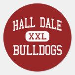 Pasillo Dale - dogos - centro - Farmingdale Maine Pegatinas Redondas