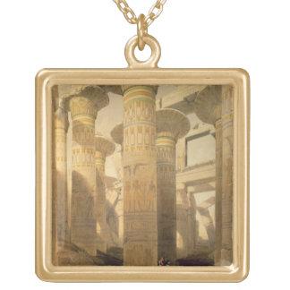 """Pasillo de columnas, Karnak, de """"Egipto y de Nubia Collar Personalizado"""