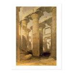 """Pasillo de columnas, Karnak, de """"Egipto y de Nubia Postal"""