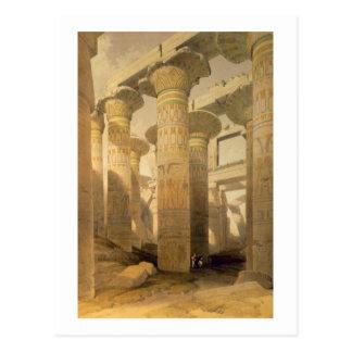 "Pasillo de columnas, Karnak, de ""Egipto y de Postales"