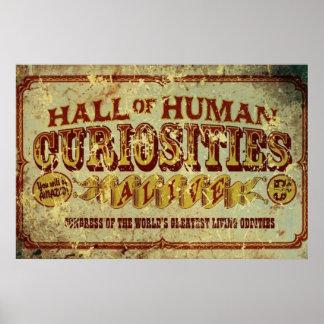 Pasillo de curiosidades humanas póster